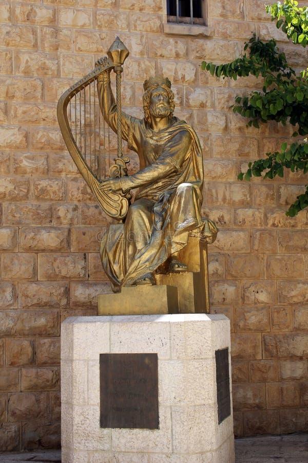 Zabytek królewiątko David, Jerozolima zdjęcia stock