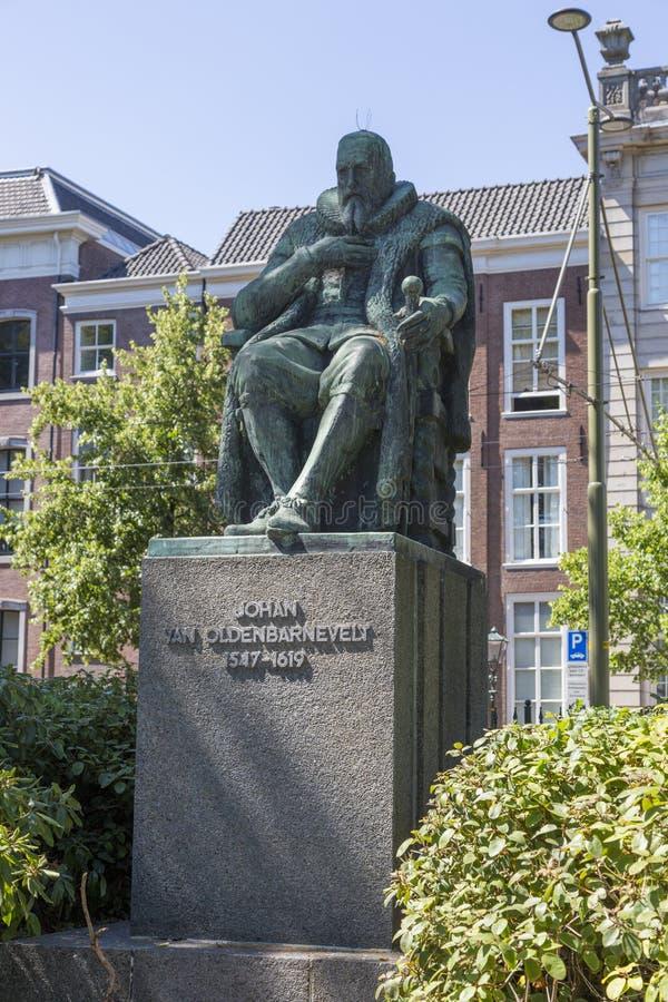 Zabytek mąż stanu Johan Samochód dostawczy Oldenbarnevelt Holenderski dyplomata i obraz royalty free