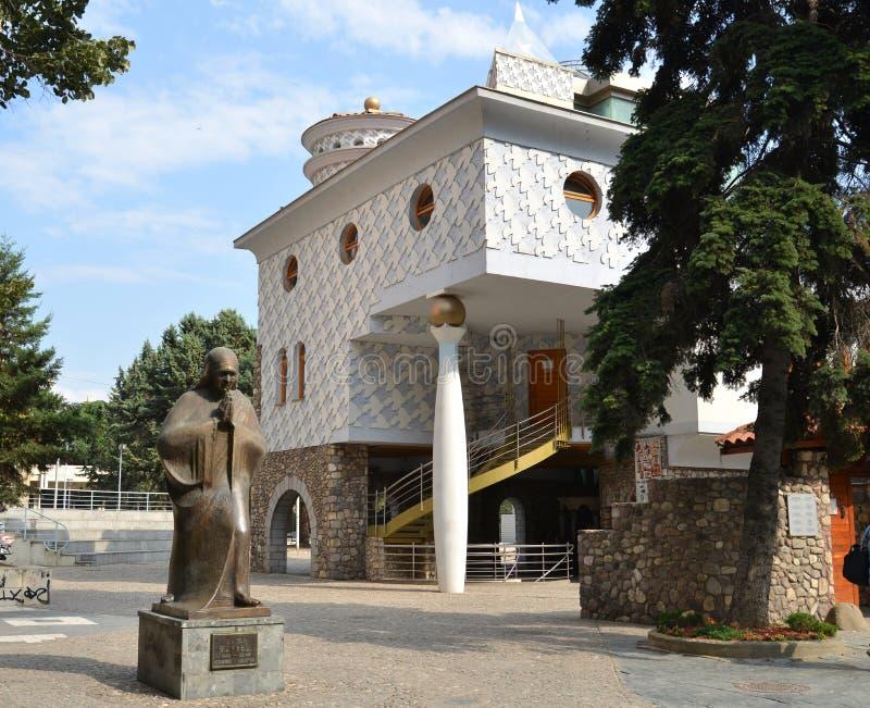 Zabytek Macierzysty Teresa w Skopje, Macedonia fotografia royalty free