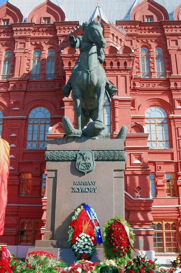 Download Zabytek Marchall Zhukov fotografia editorial. Obraz złożonej z flaga - 53781112