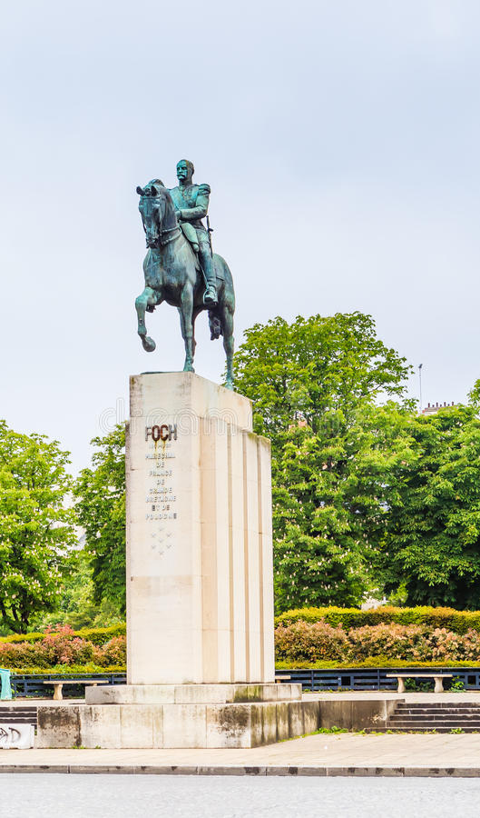 Zabytek marszałek Ferdinand Fosh paris obrazy royalty free
