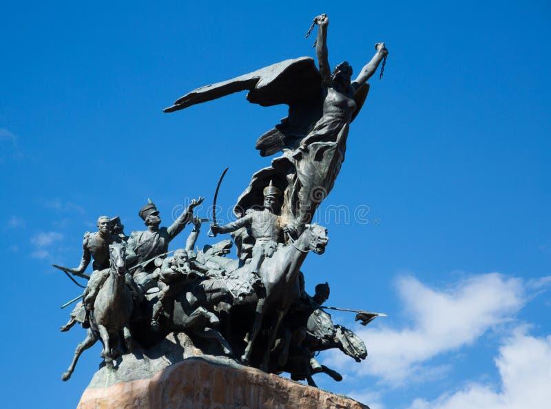 Zabytek na Cerro De Los angeles Gloria, Mendoza obrazy stock