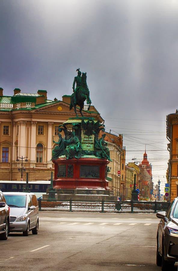 Zabytek Nicholas 1 Cesarz Rosja Rosja, święty fotografia royalty free