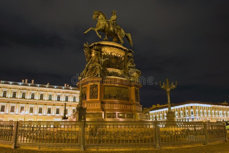 Zabytek Nicholas 1 na St Isaac kwadracie obrazy royalty free