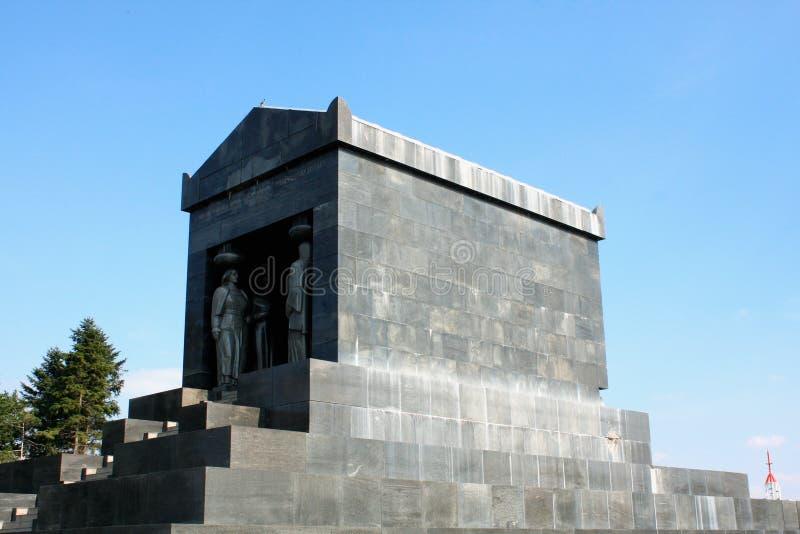 On zabytek Niewiadomy żołnierz na Avala, Belgrade fotografia stock