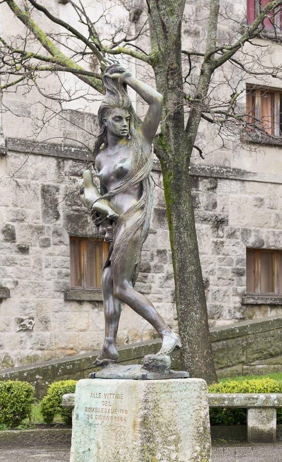 Zabytek ofiary bombardowanie w San Marino zdjęcie royalty free