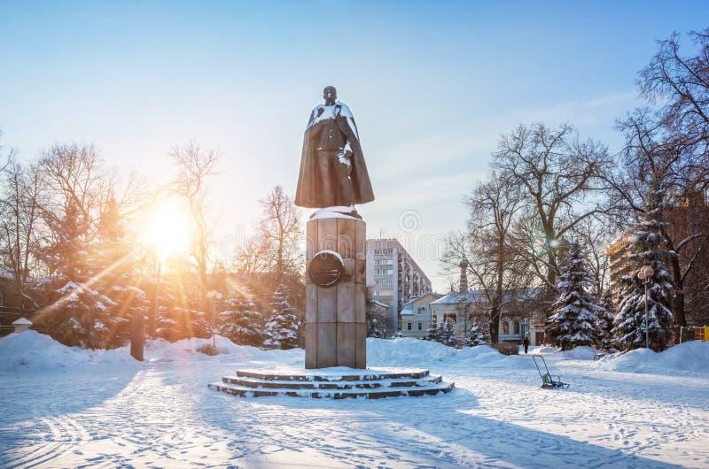 Zabytek Peter Nesterov w Nizhny Novgorod obrazy royalty free
