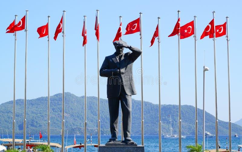 Zabytek pierwszy prezydent Indyczy Mustafa Kemal Ataturk fotografia stock