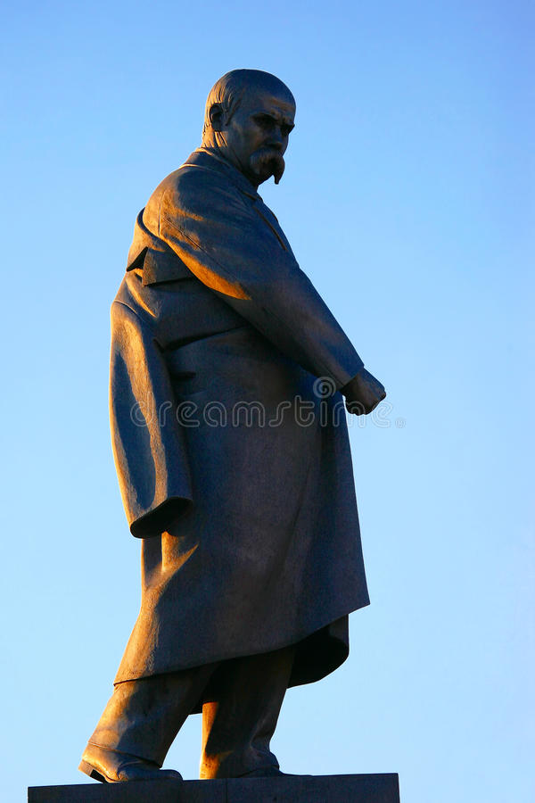 Zabytek poeta Taras Shevchenko w Kharkiv fotografia stock