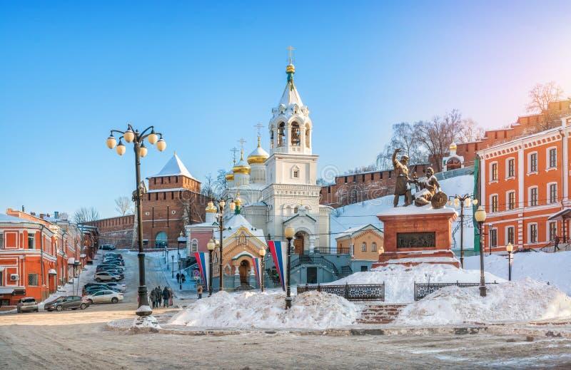 Zabytek Pozharsky i Minin w Nizhny Novgorod zdjęcia stock