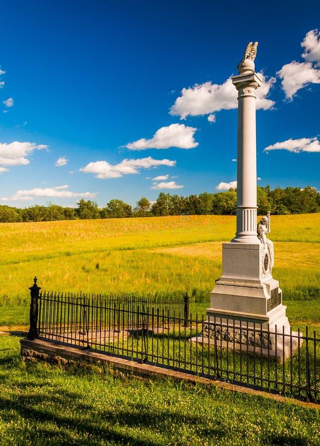 Zabytek przy Antietam Krajowym polem bitwy, Maryland fotografia stock