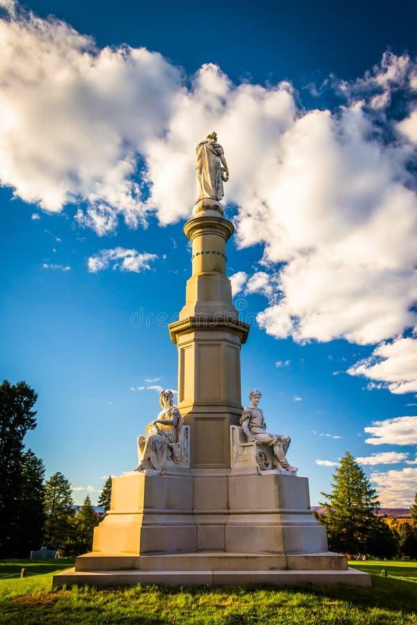 Zabytek przy Krajowym cmentarzem w Gettysburg, Pennsylwania zdjęcia royalty free