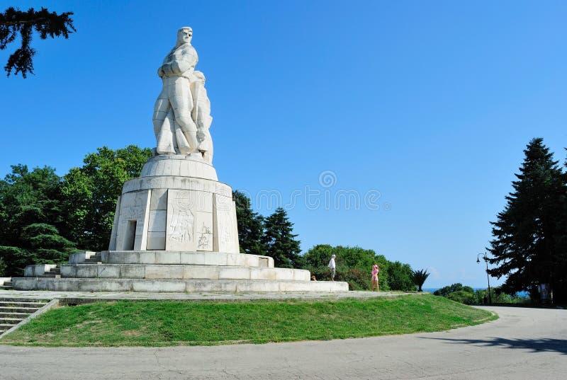 Zabytek Rosyjscy żołnierze w Varna, Bułgaria obraz royalty free