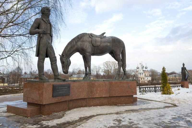 Zabytek Rosyjska poeta Konstantin Batyushkov, Vologda fotografia stock