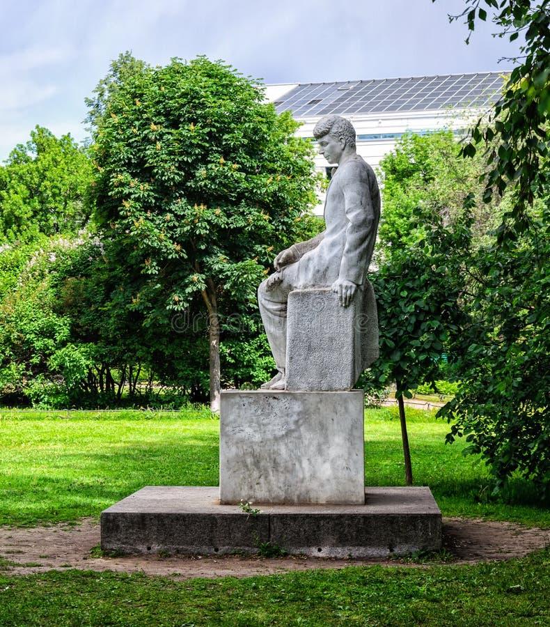 Zabytek S A Esenin, rosjanina i sowieci poeta, obraz royalty free