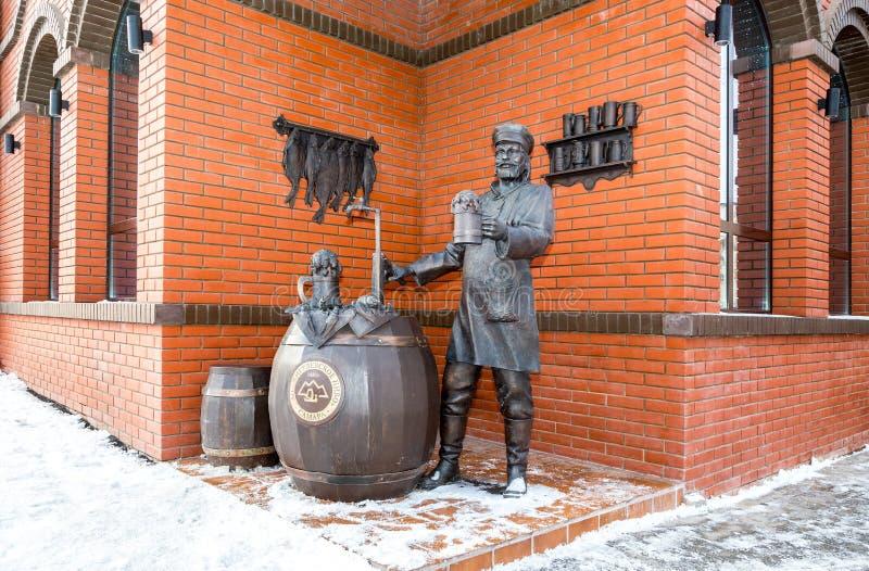 Zabytek Samara piwowar blisko Zhigulevsky browaru obrazy stock