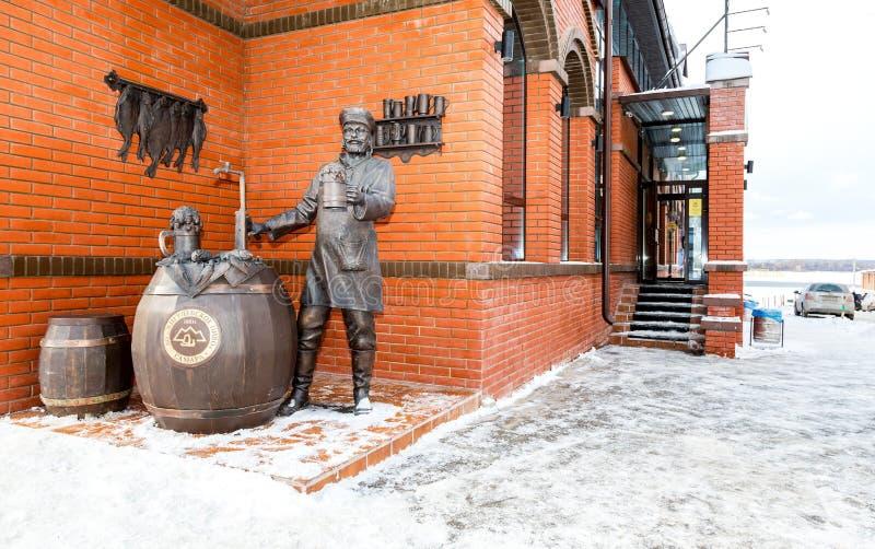 Zabytek Samara piwowar blisko Zhigulevsky browaru obrazy royalty free