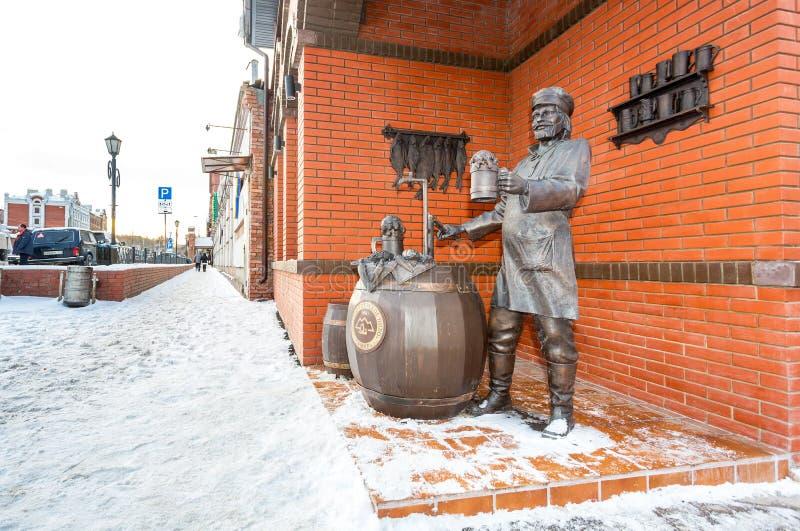 Zabytek Samara piwowar blisko Zhigulevsky browaru zdjęcie stock