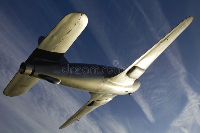 Zabytek Sir Frank Whittle's Gloster E28/39 Dżetowy brać nieba obraz stock