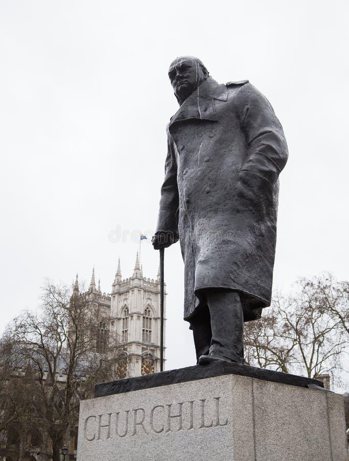Zabytek Sir Winston Churchill zdjęcie stock
