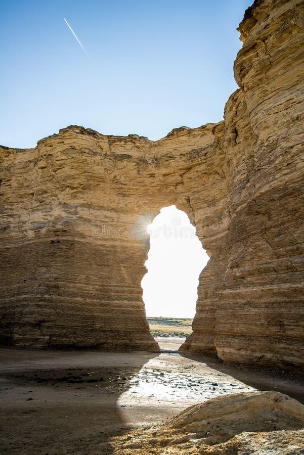Zabytek skały kredy ostrosłupy obraz stock