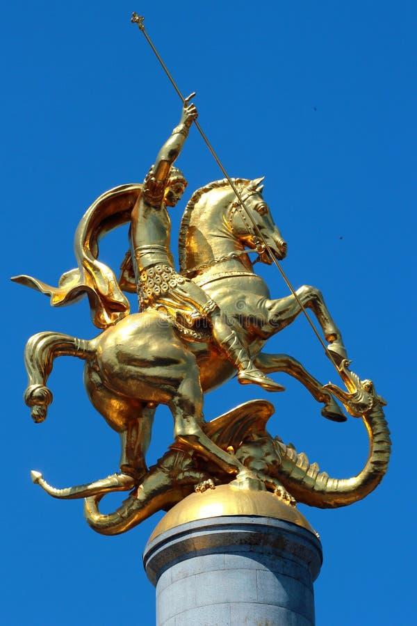 Zabytek St George w Tbilisi, Gruzja zdjęcie stock