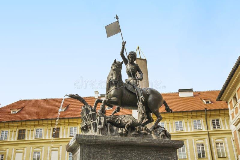 Zabytek St George Zwycięski w Praga obraz royalty free