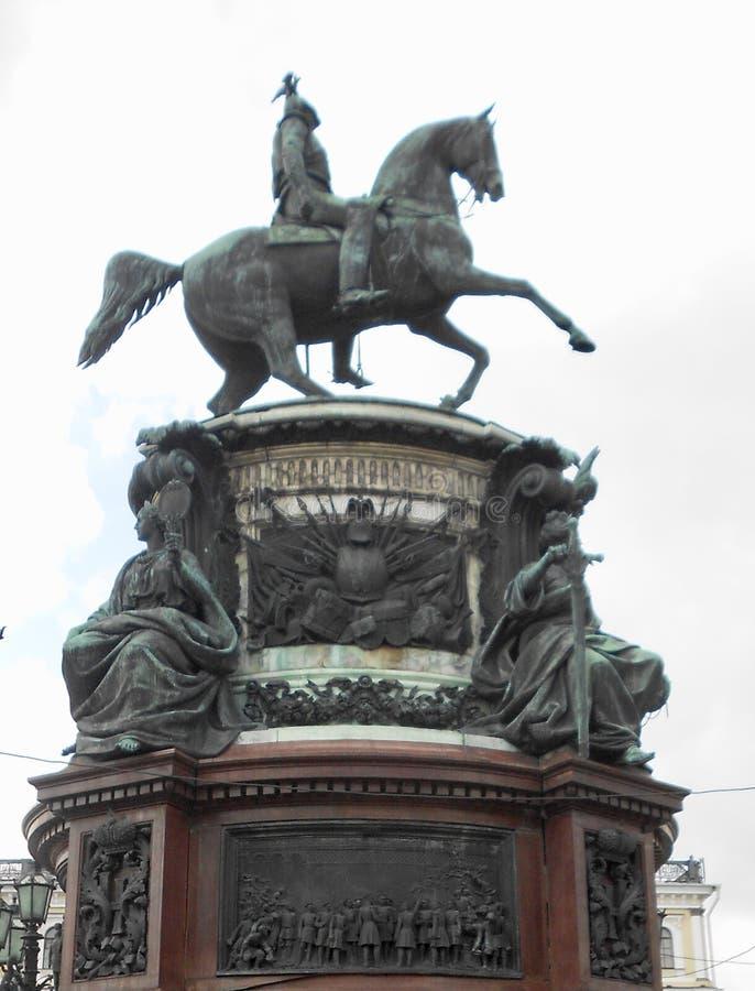 Zabytek St Nicolas Ja na St Isaac ` s kwadracie w St Petersburg, Rosja obraz royalty free