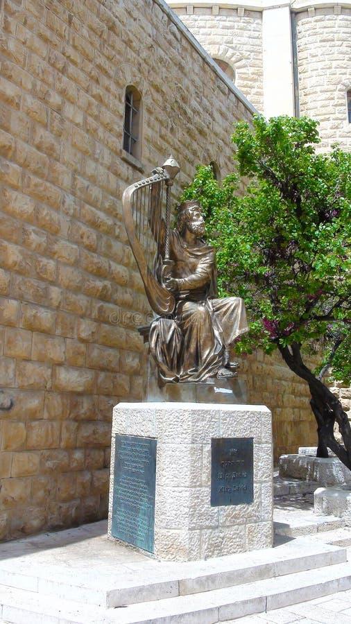 Zabytek, statua królewiątko David, Jerozolima, Stary miasteczko, Izrael zdjęcie stock