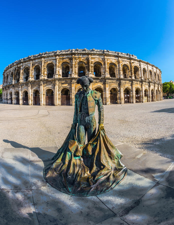 Zabytek toreador i rzymianina amfiteatr obraz stock