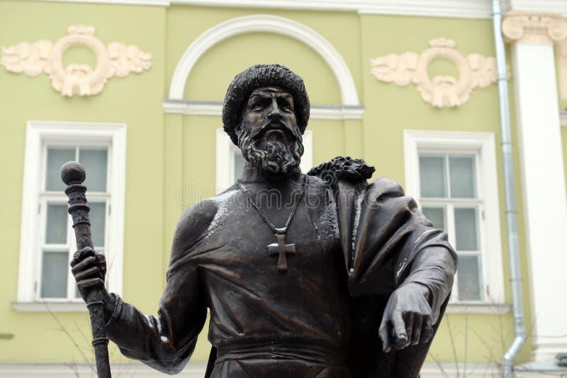 Zabytek Tsar Ivan okropny przy aleją władcy w Moskwa obraz stock