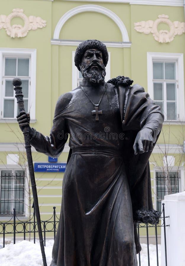 Zabytek Tsar Ivan okropny przy aleją władcy w Moskwa fotografia stock