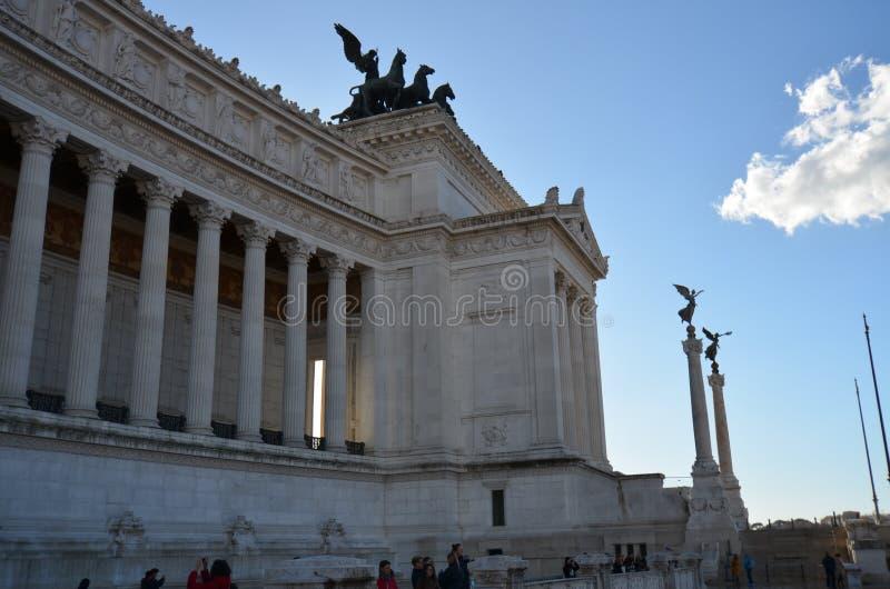 Zabytek Vittorio Emanuele II, Altare della Patria, Altare della Patria, punkt zwrotny, zabytek, niebo, historia starożytna obraz stock