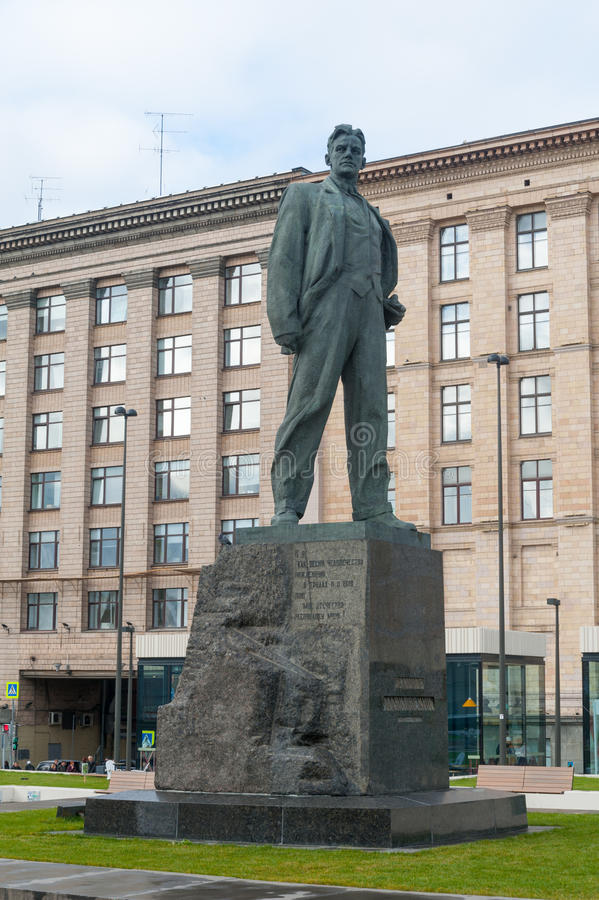 Zabytek Vladimir Mayakovsky poeta w Moskwa zdjęcia stock