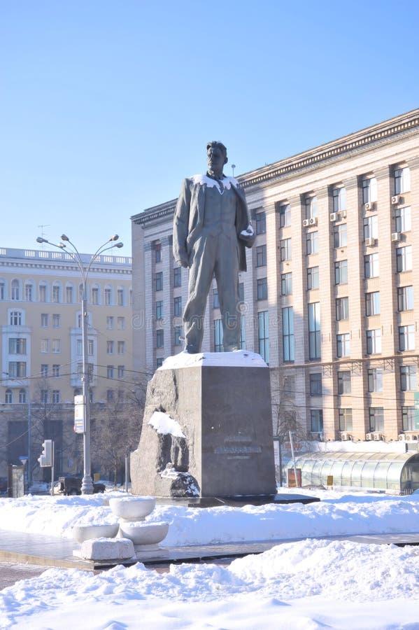 Zabytek Vladimir Mayakovsky, Rosja, Moskwa zdjęcie royalty free
