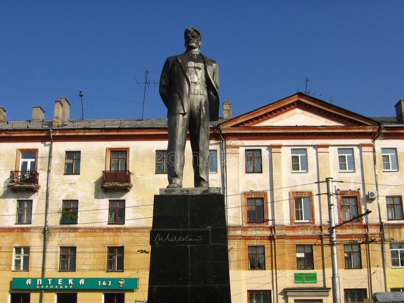Zabytek Vladimir Mayakovsky w Dzerzhinsk, Rosja zdjęcie royalty free