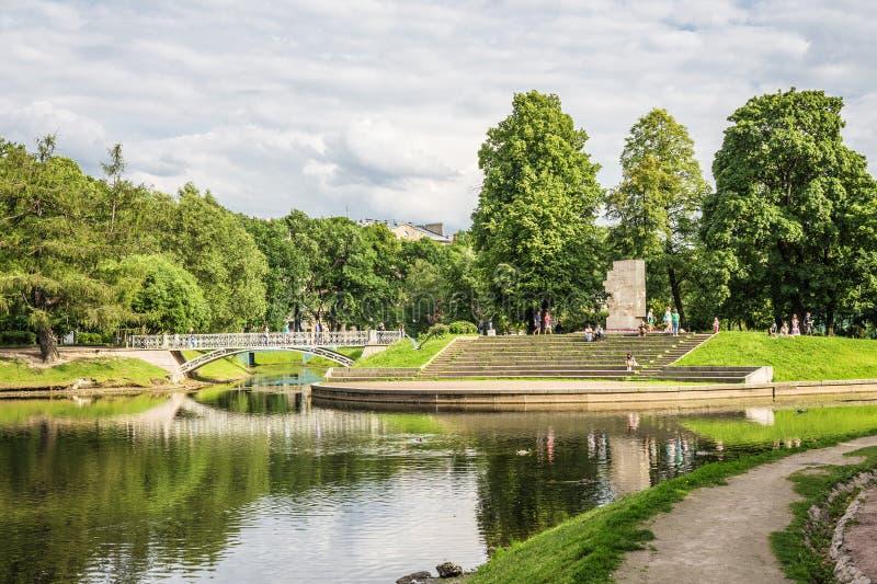 Zabytek w historycznym Tauride ogródzie blisko Tauride pałac w St Petersburg fotografia stock