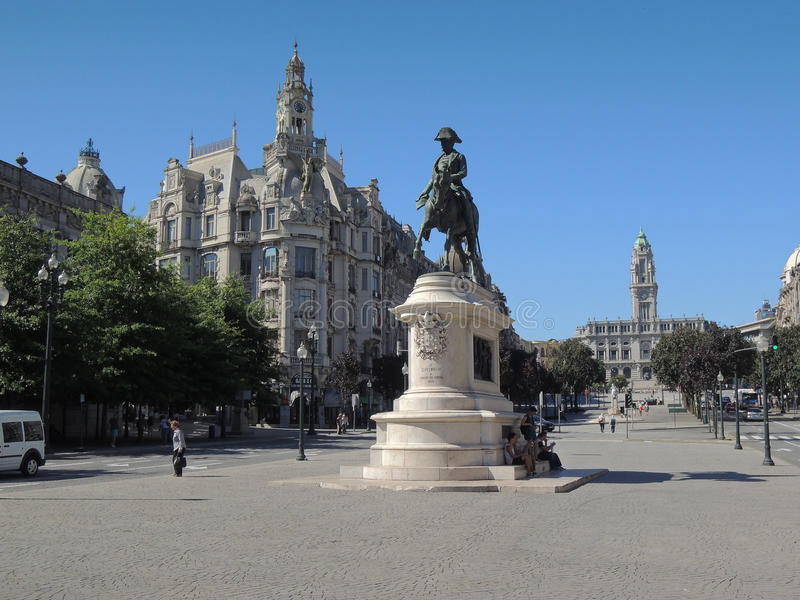 Zabytek w Lisbonne mieście obrazy royalty free