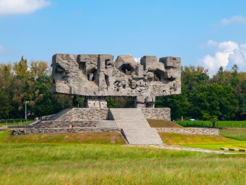 Zabytek w Majdanek koncentracyjnym obozie obraz royalty free