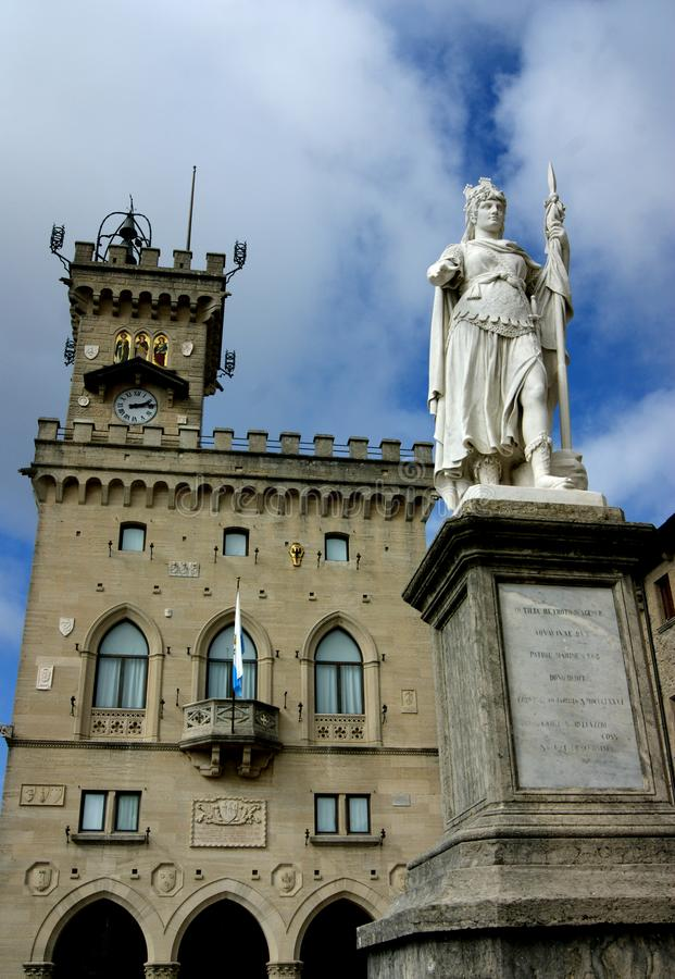 Zabytek w San Marino obrazy stock