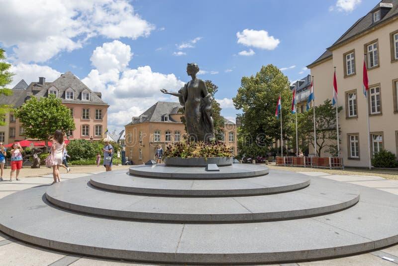 Zabytek Wielki duchess Charlotte w Luksemburg zdjęcie royalty free