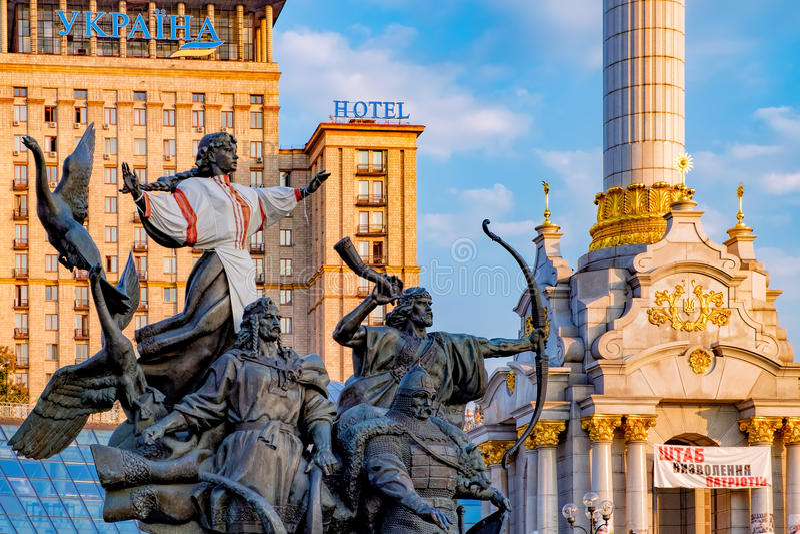 Zabytek założyciele, Kijów, Ukraina fotografia stock