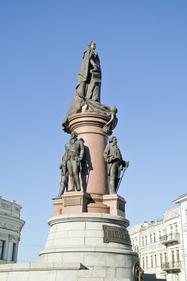 Zabytek założyciele Odessa. 1900 rok zdjęcia stock