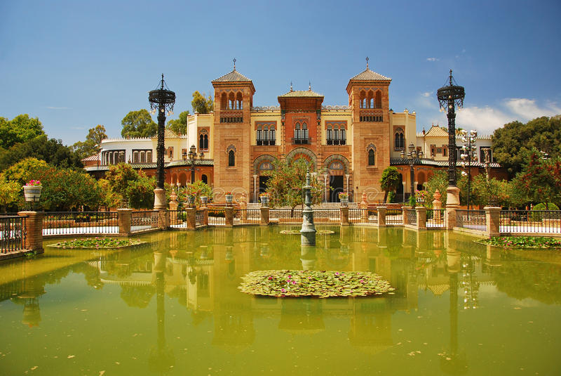 zabytki muzealny Seville Spain obrazy royalty free