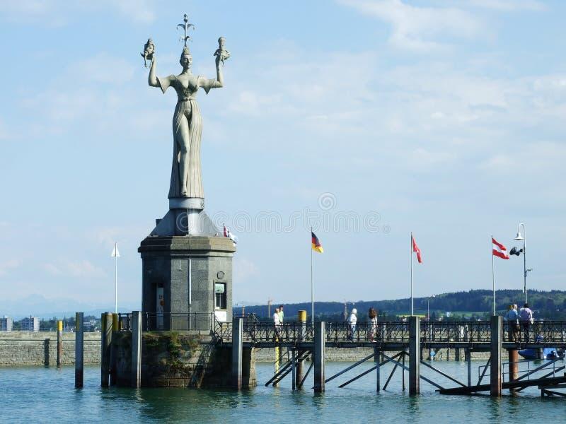 Zabytki zbliżają Jeziornego Bodensee w mieście Konstanz obraz royalty free