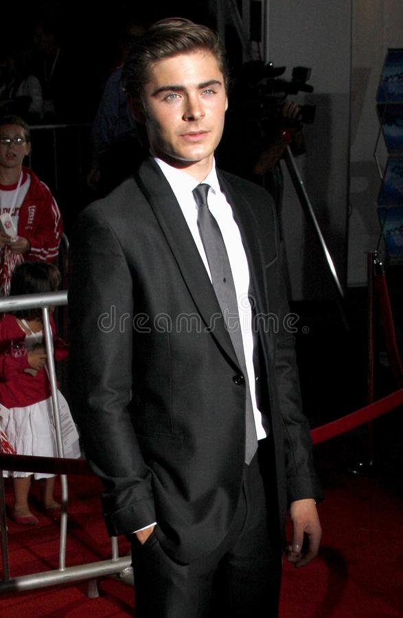 Zac Efron photographie stock