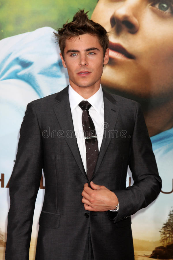 Zac Efron. LOS ANGELES - JUL 20: Zac Efron arrives at the Charlie St. Cloud Premiere at Village Theater on July20, 2010 in Westwood, CA royalty free stock images
