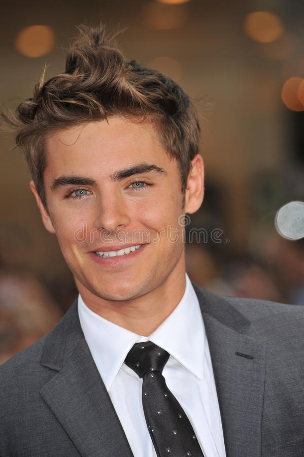 Zac Efron photo stock