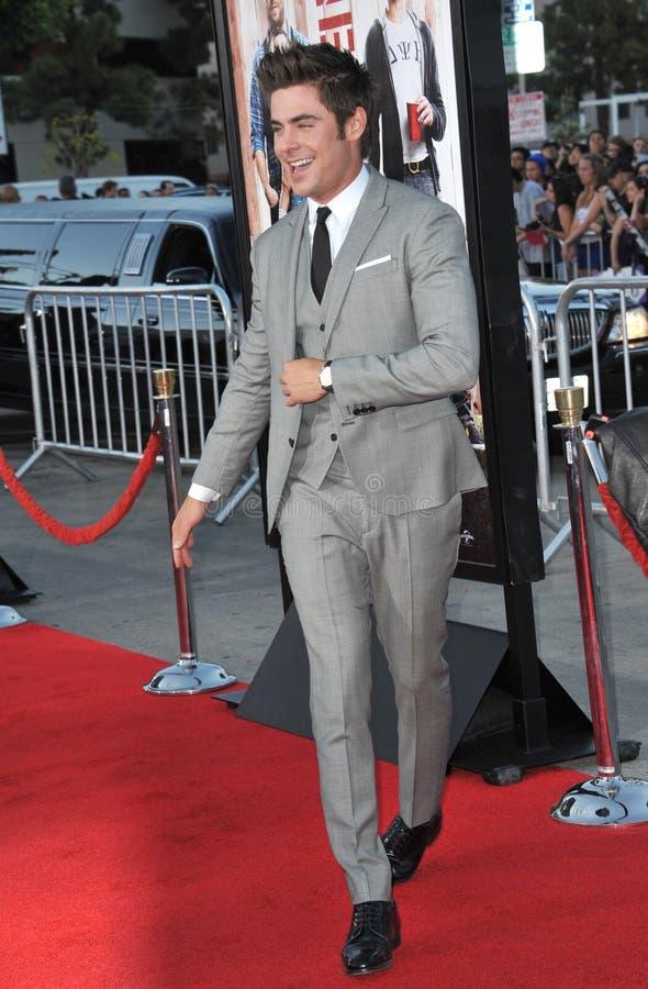 Zac Efron image libre de droits