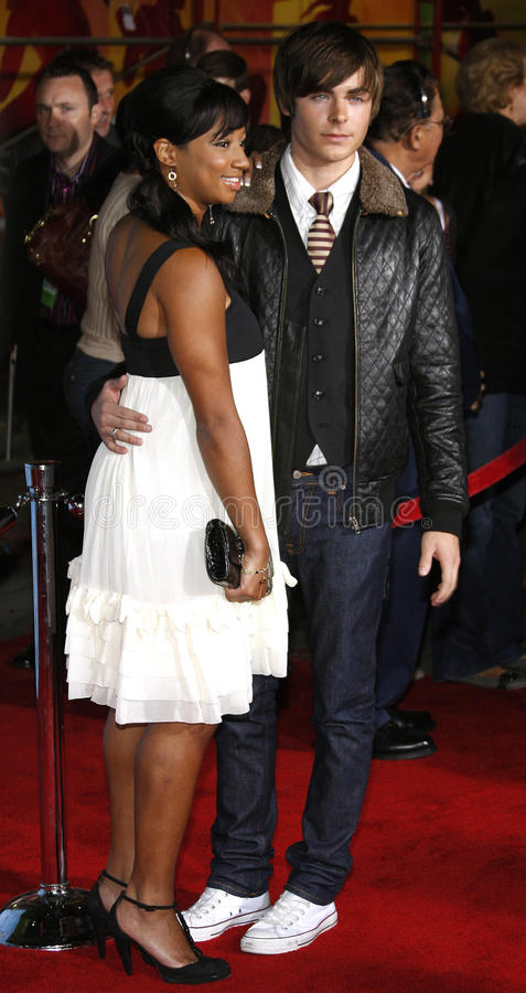 Zac Efron e Monique Coleman fotos de stock royalty free